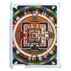 Colorful Mandala Apple Ipad 2 Case (white) by BangZart