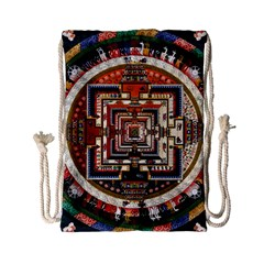 Colorful Mandala Drawstring Bag (small) by BangZart