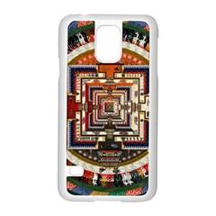 Colorful Mandala Samsung Galaxy S5 Case (white) by BangZart