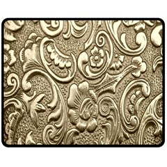Golden European Pattern Double Sided Fleece Blanket (medium)  by BangZart