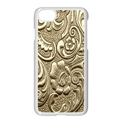 Golden European Pattern Apple Iphone 7 Seamless Case (white) by BangZart
