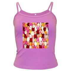 Rose Color Beautiful Flowers Dark Spaghetti Tank by BangZart