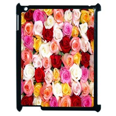 Rose Color Beautiful Flowers Apple Ipad 2 Case (black) by BangZart