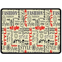 Backdrop Style With Texture And Typography Fashion Style Double Sided Fleece Blanket (large)