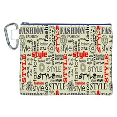 Backdrop Style With Texture And Typography Fashion Style Canvas Cosmetic Bag (xxl) by BangZart