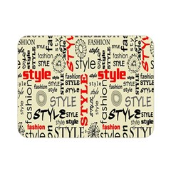 Backdrop Style With Texture And Typography Fashion Style Double Sided Flano Blanket (mini)  by BangZart