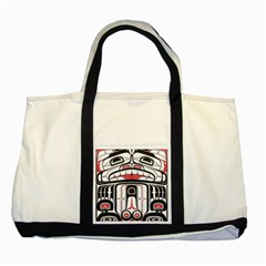 Ethnic Traditional Art Two Tone Tote Bag by BangZart