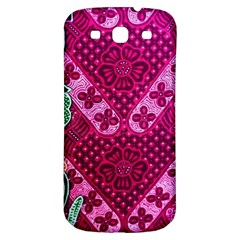 Pink Batik Cloth Fabric Samsung Galaxy S3 S Iii Classic Hardshell Back Case by BangZart