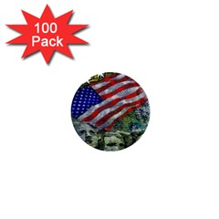 Usa United States Of America Images Independence Day 1  Mini Buttons (100 Pack)
