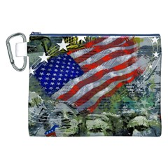 Usa United States Of America Images Independence Day Canvas Cosmetic Bag (xxl) by BangZart