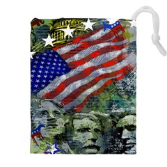 Usa United States Of America Images Independence Day Drawstring Pouches (xxl) by BangZart
