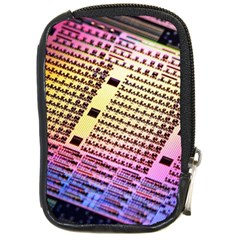 Optics Electronics Machine Technology Circuit Electronic Computer Technics Detail Psychedelic Abstra Compact Camera Cases by BangZart