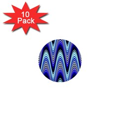 Waves Blue 1  Mini Buttons (10 Pack)  by Colorfulart23