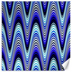 Waves Blue Canvas 12  X 12   by Colorfulart23
