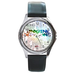 Imagine Dragons Quotes Round Metal Watch