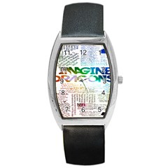 Imagine Dragons Quotes Barrel Style Metal Watch by BangZart