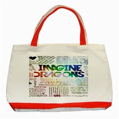 Imagine Dragons Quotes Classic Tote Bag (red) by BangZart