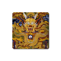 Chinese Dragon Pattern Square Magnet by BangZart