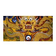 Chinese Dragon Pattern Satin Wrap by BangZart