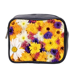 Colorful Flowers Pattern Mini Toiletries Bag 2 Side by BangZart