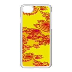 Floral Fractal Pattern Apple Iphone 7 Seamless Case (white) by BangZart