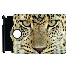 Leopard Face Apple Ipad 3/4 Flip 360 Case by BangZart