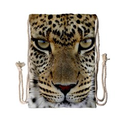Leopard Face Drawstring Bag (small) by BangZart