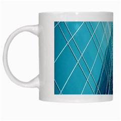 Glass Bulding White Mugs by BangZart