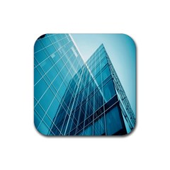 Glass Bulding Rubber Square Coaster (4 Pack)  by BangZart