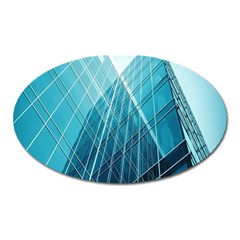 Glass Bulding Oval Magnet by BangZart
