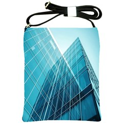 Glass Bulding Shoulder Sling Bags by BangZart