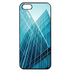 Glass Bulding Apple Iphone 5 Seamless Case (black) by BangZart