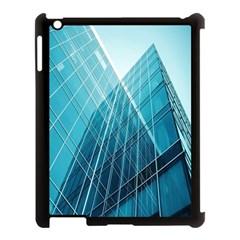 Glass Bulding Apple Ipad 3/4 Case (black) by BangZart