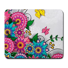 Flowers Pattern Vector Art Large Mousepads