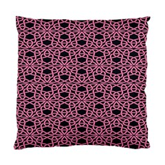 Triangle Knot Pink And Black Fabric Standard Cushion Case (two Sides) by BangZart