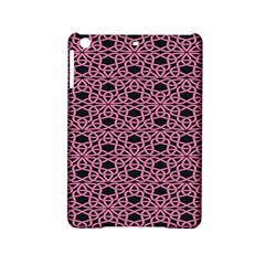 Triangle Knot Pink And Black Fabric Ipad Mini 2 Hardshell Cases by BangZart