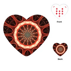 Circle Pattern Playing Cards (heart)
