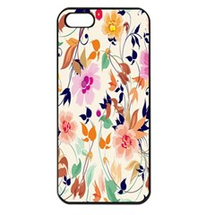 Vector Floral Art Apple Iphone 5 Seamless Case (black) by BangZart