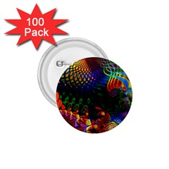 Colored Fractal 1 75  Buttons (100 Pack)  by BangZart