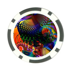 Colored Fractal Poker Chip Card Guard (10 Pack) by BangZart