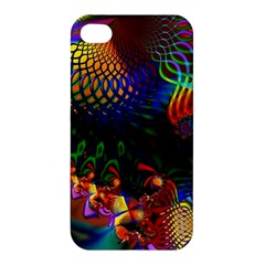 Colored Fractal Apple Iphone 4/4s Premium Hardshell Case by BangZart
