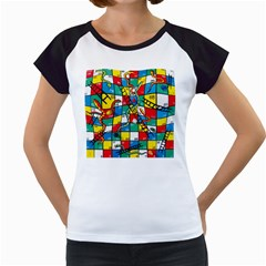 Snakes And Ladders Women s Cap Sleeve T by BangZart