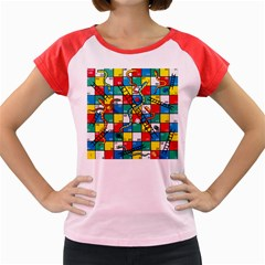 Snakes And Ladders Women s Cap Sleeve T Shirt by BangZart