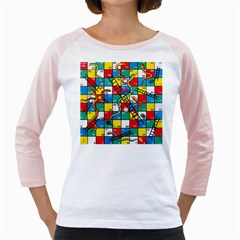 Snakes And Ladders Girly Raglans by BangZart