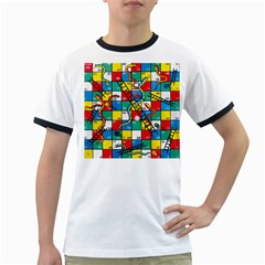 Snakes And Ladders Ringer T Shirts by BangZart