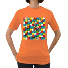 Snakes And Ladders Women s Dark T Shirt by BangZart