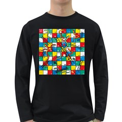 Snakes And Ladders Long Sleeve Dark T Shirts by BangZart