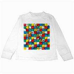 Snakes And Ladders Kids Long Sleeve T Shirts by BangZart