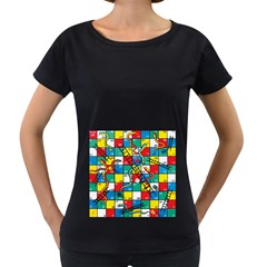 Snakes And Ladders Women s Loose Fit T Shirt (black) by BangZart