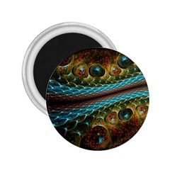 Fractal Snake Skin 2 25  Magnets by BangZart